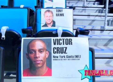 News video: Behind the Scenes - Nickelodeon Kid's Choice Sports Seating Carlos Penavega, Pharrell, & MORE